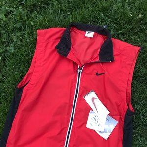 Vintage Nike NWT reflective vest jacket L red 90s